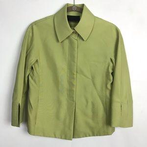 💎3/25 Carlisle Silk Blazer Suit Jacket Green